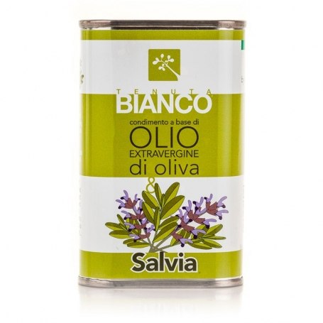 Condimento all'olio extravergine di oliva e Salvia, 250 ml - Tenuta Bianco