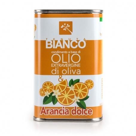 Olio extravergine di oliva aromatizzato all'arancia, 250 ml - Tenuta Bianco