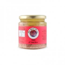Filetto di tonno rosso in olio di oliva, 300 gr - Ittica Capo San Vito