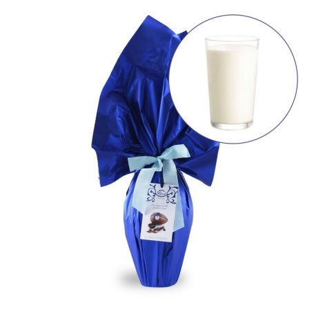 Handmade Easter egg Rossi with tuft - Milk chocolate, 250 gr