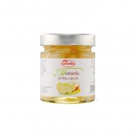 Mostarda di mele a spicchi, 370 gr - Lazzaris