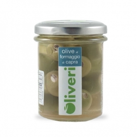 Olives with goat's cheese in oil, 180 gr - Oliveri