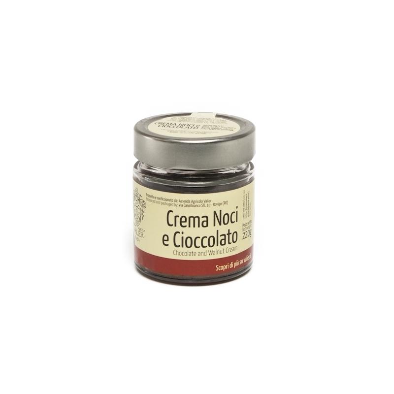Crema dolce di Noci e cioccolato, 220 gr. - Azienda agricola Valier