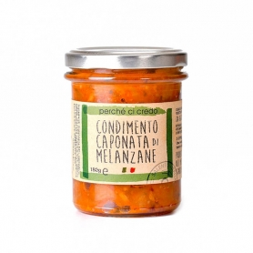 Eggplant caponata dressing, 180 gr - Because I believe it
