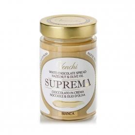 Suprema Crema spalmabile di cioccolato bianco e nocciole, 300 gr. - Venchi