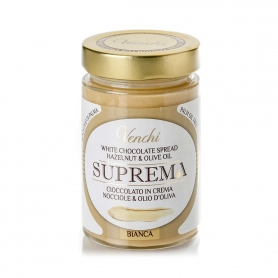 Suprema Spreadable cream of white chocolate and hazelnuts, 300 gr. - Venchi