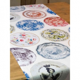 Runner Old Plate, 150x50 cm - Tablecloths