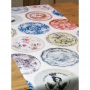 Runner da tavola Old Plate, 150x50 - Tablecloth