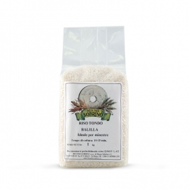 Organic Balilla Round Rice, 1 kg - Sobrino Mill