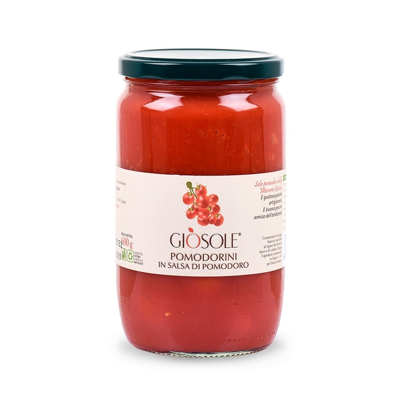 Cherry tomatoes in sauce, 600 gr - Masseria GiòSole