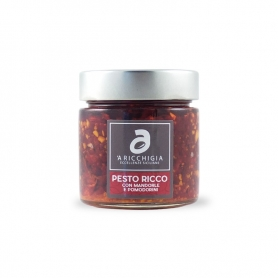 Pesto with cherry tomatoes and almonds, 190 gr - Aricchigia