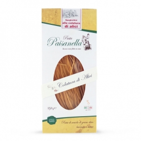 Spaghettini with anchovy sauce, 250 gr - Pastificio Paisanella