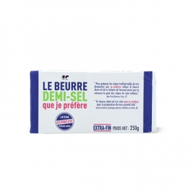 Salted Normandy butter, 250 gr. - Verneuil