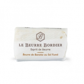 Burro de baratte with smoked salt, 125 gr x 4 pieces - Le Beurre Bordier