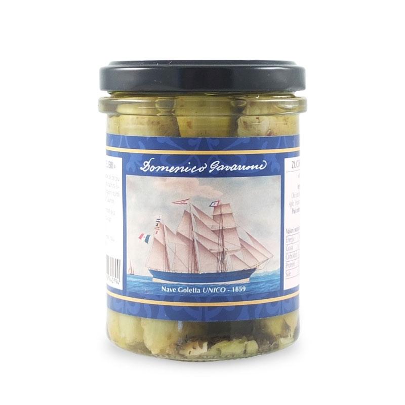 Zucchine Trombetta sott'olio, 180 gr - I Velieri