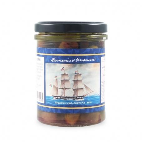 Taggiasche pitted olives in oil, 180 gr - I Velieri - Olive taggiasche e sott'oli