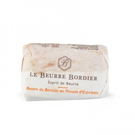 Baratte butter with Espelette pepper, 125 gr x 4 pieces - Le Beurre Bordier