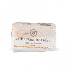 Burro de baratte au piment d'Espelette, 125 gr - Le Beurre Bordier