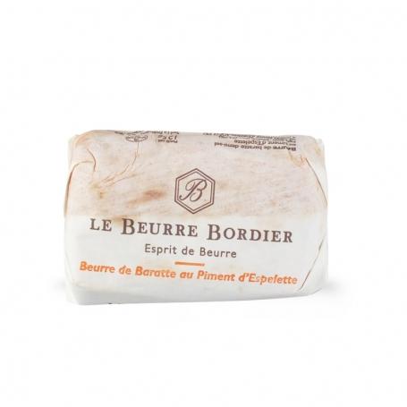 Burro aromatizzato al peperoncino di Espelette, 125 gr - Le Beurre Bordier