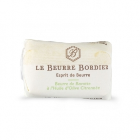 Burro de baratte à l'huile d'olive et au citron, 125 gr - Le Beurre Bordier