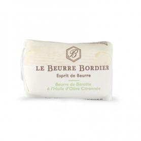 Butter de Baratte mit Olivenöl und Zitrone, 125 gr x 4 Stück - Le Beurre Bordier