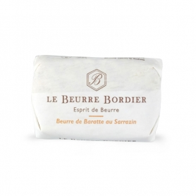 Baratte butter with buckwheat, 125 gr x 4 pieces - Le Beurre Bordier
