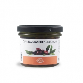 Taggiasca olives pitted in oil, 90 gr - Rossi 1947