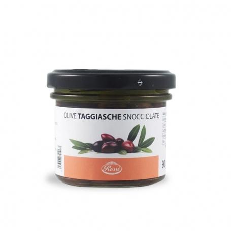 Olive Taggiasche snocciolate sott'olio, 90 gr  - Rossi 1947