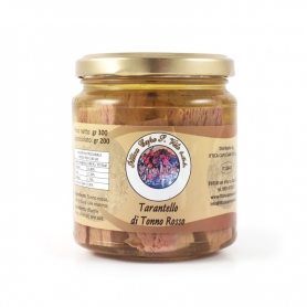 Tarantello de thon rouge à l'huile d'olive, 300 gr - Ittica Capo San Vito
