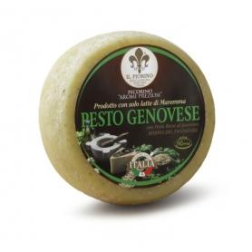 Pecorino al Pesto Rossi 1947, 1 Kg - Il Fiorino dairy