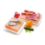 Pink salt plate for cooking and serving, 20x20 cm - Stoviglie e Oggettistica