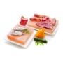 Piastra di sale rosa, 10x20 cm + Supporto per cottura