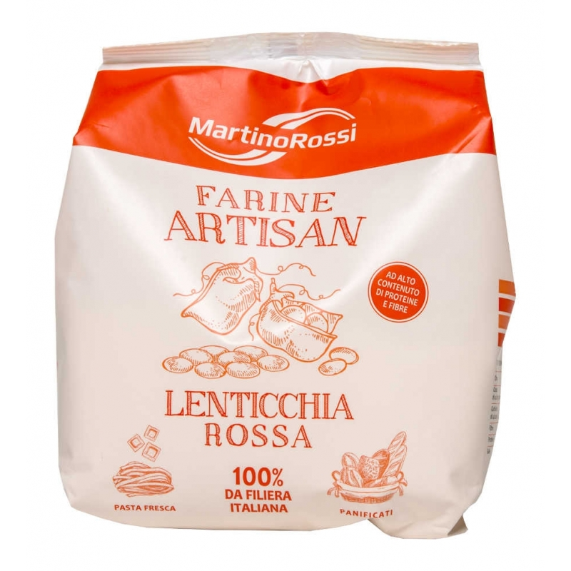 Farina di lenticchie rosse, 1 kg - Artisan