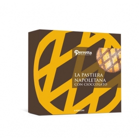 Neapolitan Pastiera with chocolate, 400 gr - Perrotta