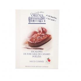 Scaloppe di Foie Gras pronte sottovuoto con salsa all'arancia - Les Delices Saint Orens