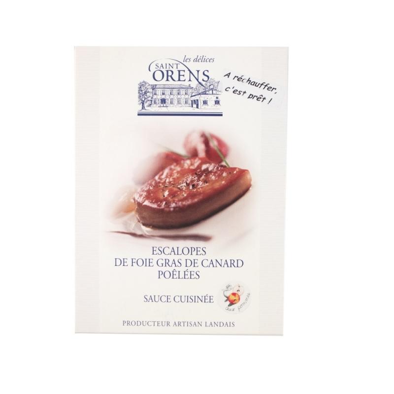 Scaloppe di Foie Gras pronte sottovuoto con salsa alle mele