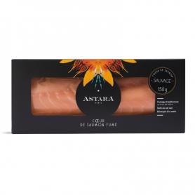 Cuore di salmone selvaggio del Baltico filetto intero affumicato, 150 gr - Astara