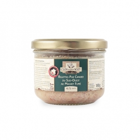 """Rillettes"" pure Duck from ""Sud-Ouest"" of France with Smoked Duck Breast, 180 gr"