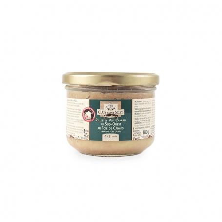 Paté puro di anatra con foie gras, 180 gr