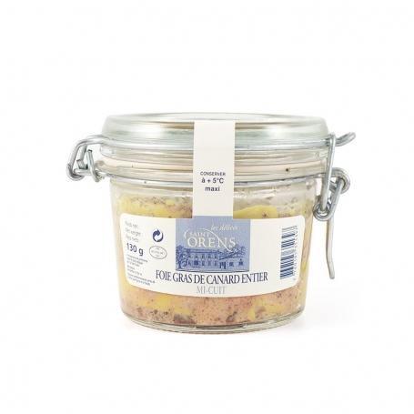 Foie Gras di Anatra Mi Cuit Entier in vaso vetro, 130 gr - Les Delices Saint Orens - Foie Gras