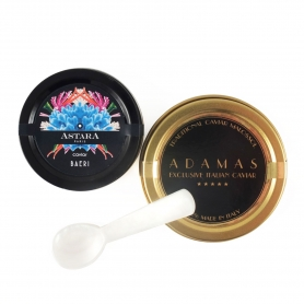Pair of 10 gr Caviar (Baerii) + Mother-of-pearl spoon