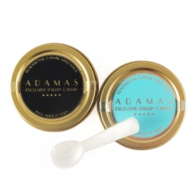 Pair of 10 gr Caviar (Baerii and Cobice) + Mother-of-pearl spoon