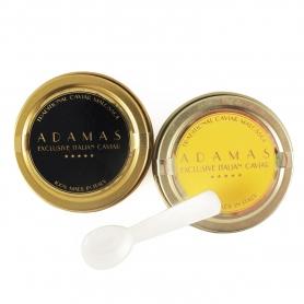 Paire de 10 g de caviar (Baerii et Asetra) + cuillère en nacre