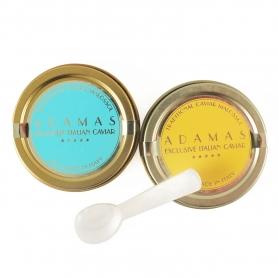 Couple de 10 gr de caviar (Asetra, Cobice) + cuillère en nacre