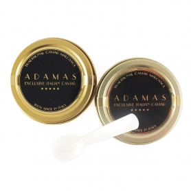 Pair of Adamas Caviar 10 gr (Baerii) + Spoon in mother-of-pearl
