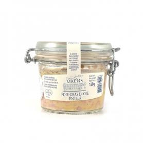 Foie gras entier d'oie en verre, 130 gr - Les Delices Saint Orens