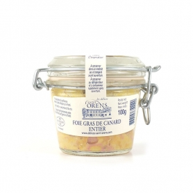 Foie gras de canard entier en verre, 100 gr - Les Delices Saint Orens