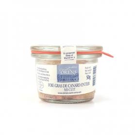 Foie Gras di Anatra Mi Cuit Entier in vaso vetro, 50 gr