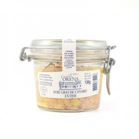 Foie gras de canard en verre ENTIER, 130 gr - Les Delices Saint Orens