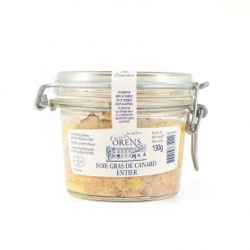 Foie gras de canard entier Glas, 120 gr - Jeanne Bertot